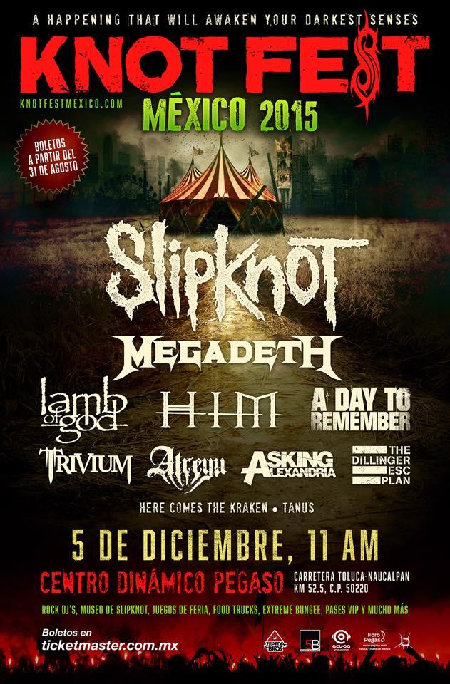 Cartel Oficial de Knot Fest México 2015 y detalles sobre los boletos. (2/2)