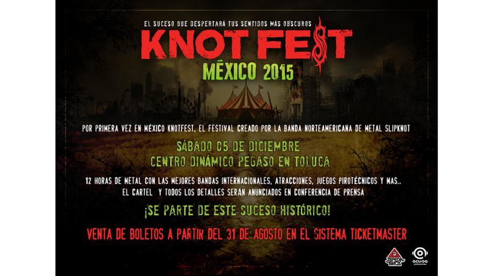 Cartel Oficial de Knot Fest México 2015 y detalles sobre los boletos. (1/2)